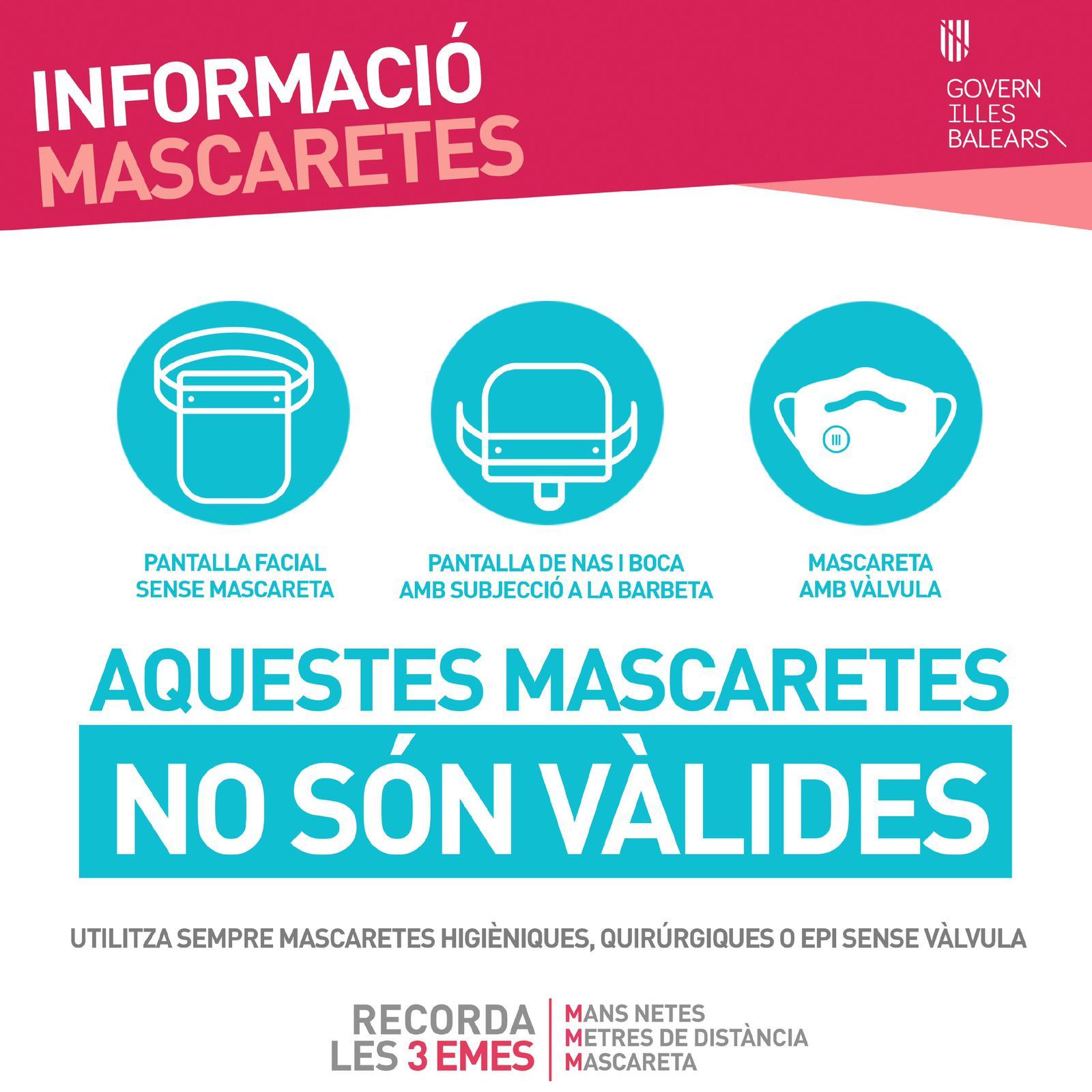 AQUESTES MASCARETES NO SÓN VÀLIDES